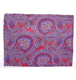 Wyoming Traders Frontier Calico Paisley 100% Silk Scarf
