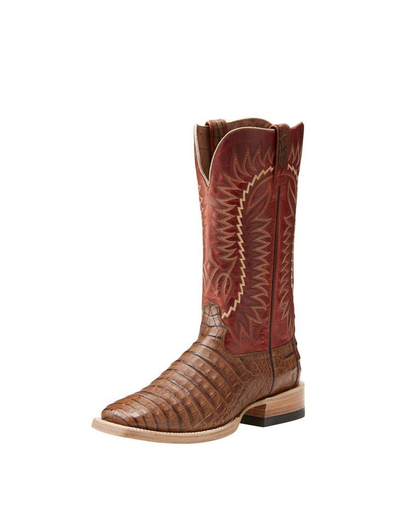 Ariat Ariat Men's Relentless Gold Buckle Caramel Caiman Belly Boots