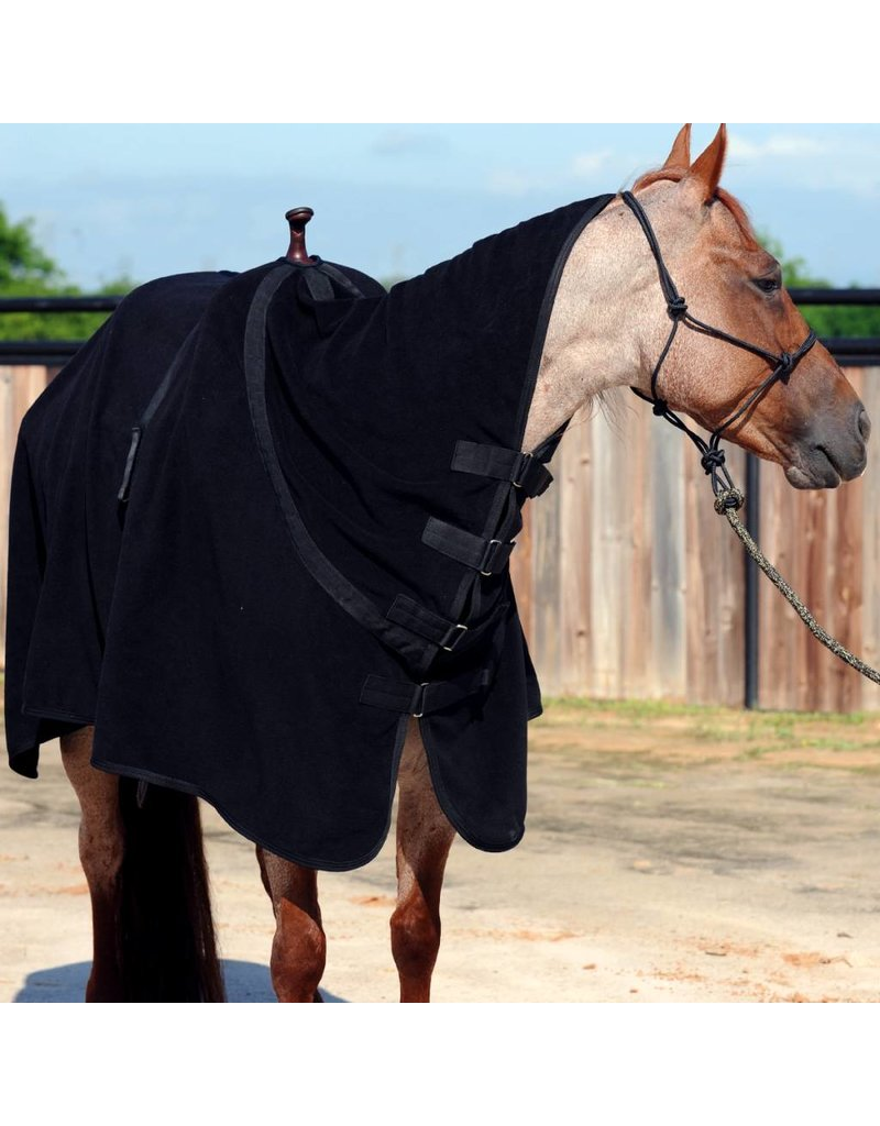Classic Equine Premium Polar Black Fleece Cooler