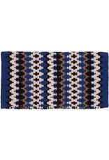 Mustang Heavy Weight Navajo Blue Wool Blanket
