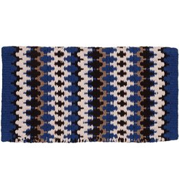 Mustang Heavy Weight Navajo Blue Wool Blanket