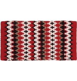 Mustang Heavy Weight Navajo Red Wool Blanket