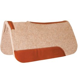 "Mustang 1"" Contoured Tan Wool Junior Pad with Top Grain Wear Leathers"