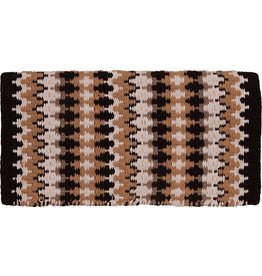 Mustang Heavy Weight Navajo Black Wool Blanket