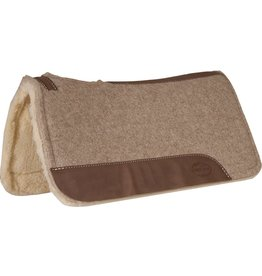 Mustang Tan Wool Contoured with Fleece Bottom Pad