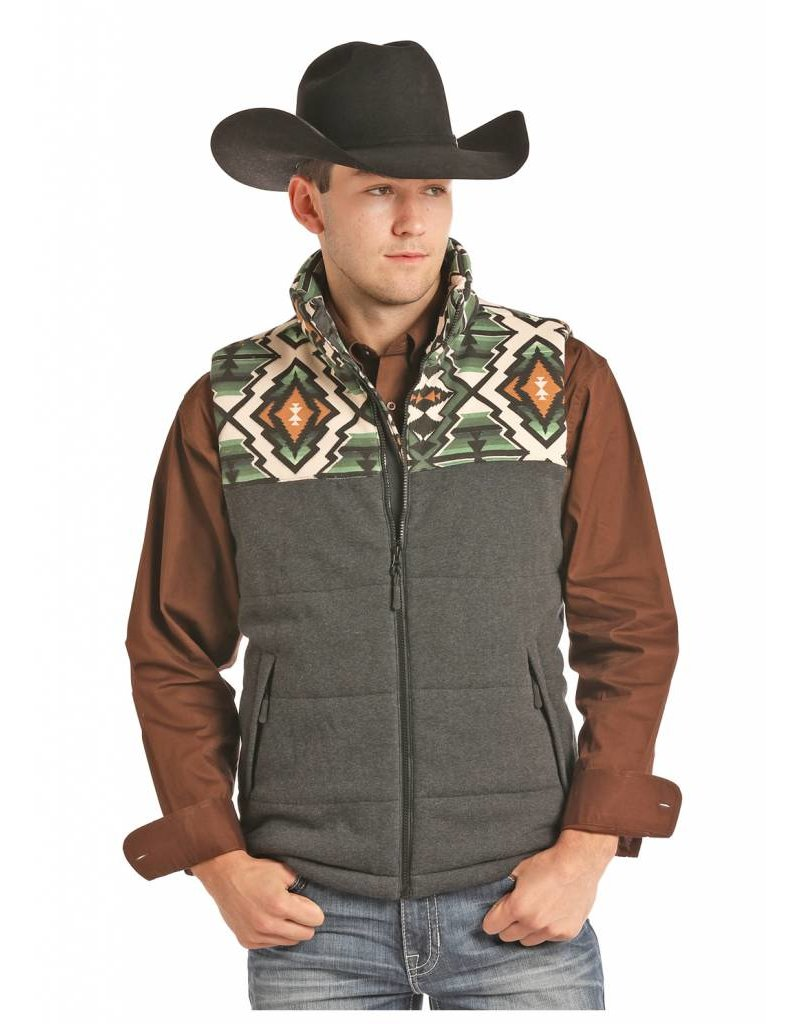 Powder River Outfitters Powder River Men's Aztec Yoke Vest