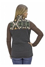 Powder River Outfitters Powder River Women's Black Aztec Yoke Vest