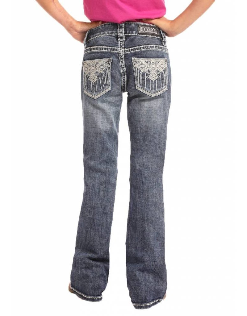 Rock & Roll Cowgirl Rock & Roll Cowgirl Girls' Aztec Embroidered Jean