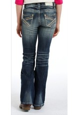 Rock & Roll Cowgirl Rock & Roll Cowgirl Girls' Multi Color Thread Dark Vintage Boot Cut Jean