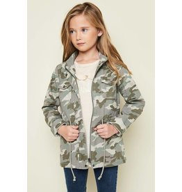 Hayden Girls' Camo Cargo Jacket