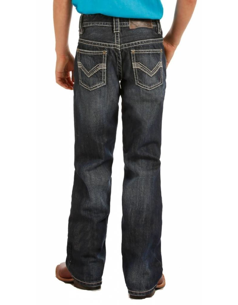 Rock & Roll Cowboy Rock & Roll Denim Boy's Dark Vintage Boot Cut Jean