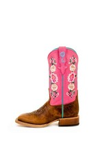 Macie Bean Macie Bean Kids' Honey Bunch Rose Lizard Print Boots