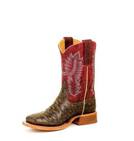 Anderson Bean Anderson Bean Kids' Tobacco Impostrich Crazy Cranberry Boots