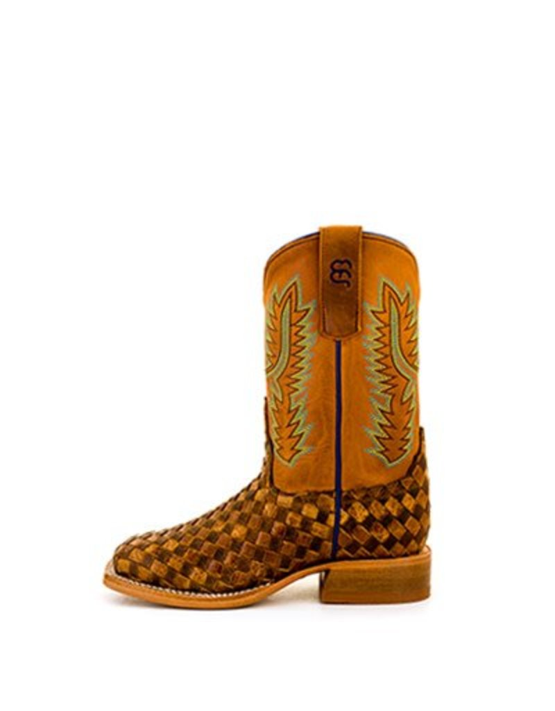 Anderson Bean Anderson Bean Kids' Unbeweavable Toast Honey Crazy Horse Boots