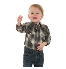 Wrangler Wrangler® Baby Brown Long Sleeve Bodysuit