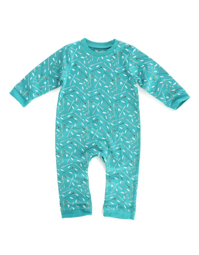Wrangler Wrangler® Baby Teal Arrow Print Long Sleeve Bodysuit