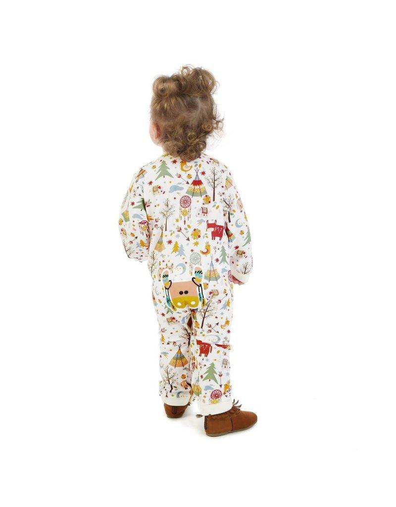 Wrangler Wrangler® Baby Ivory Wild Print Long Sleeve Bodysuit