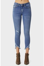 Judy Blue Medium Blue Wash Tulip Hem Skinny Jeans