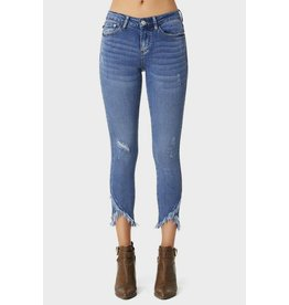 Judy Blue Medium Blue Wash Tulip Hem Skinny Jeans