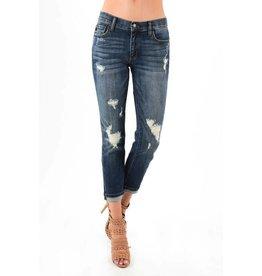 Judy Blue Stretchy Boyfriend Mid-Rise Cuffed Jeans