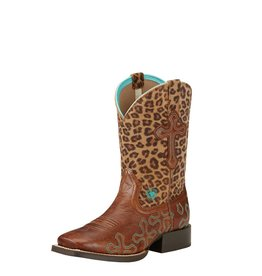 Ariat Ariat Kids' Wood Leopard Crossroads Boots