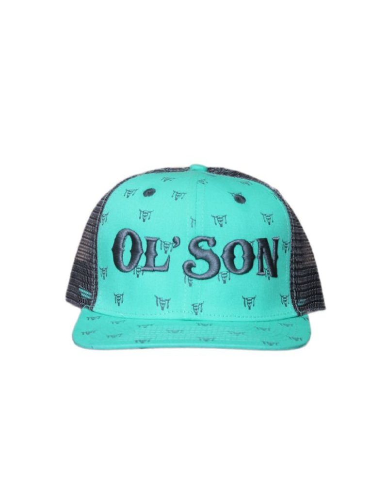 Dale Brisby Ol' Son Light Green Meshback Skull Print