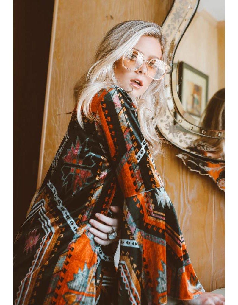 Judith March Big Skye Velvet Kimono