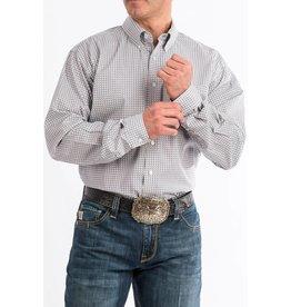 Cinch Cinch Men's Purple & Gray Geometric Print Long Sleeve Button Down Shirt
