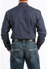 Cinch Cinch Men's Navy Print Long Sleeve Snap Shirt
