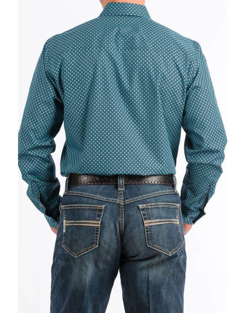 Cinch Cinch Men's Turquoise Print Button Down Shirt