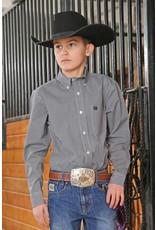 Cinch Cinch Boy's Long Sleeve Print Button Down Shirt
