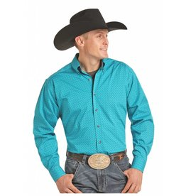Panhandle Competition Tuf Cooper Performance Aqua Stretch Poplin Print Long Sleeve