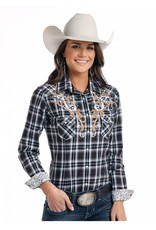 Panhandle Slim Rough Stock Grandview Antique Ombre Plaid Long Sleeve