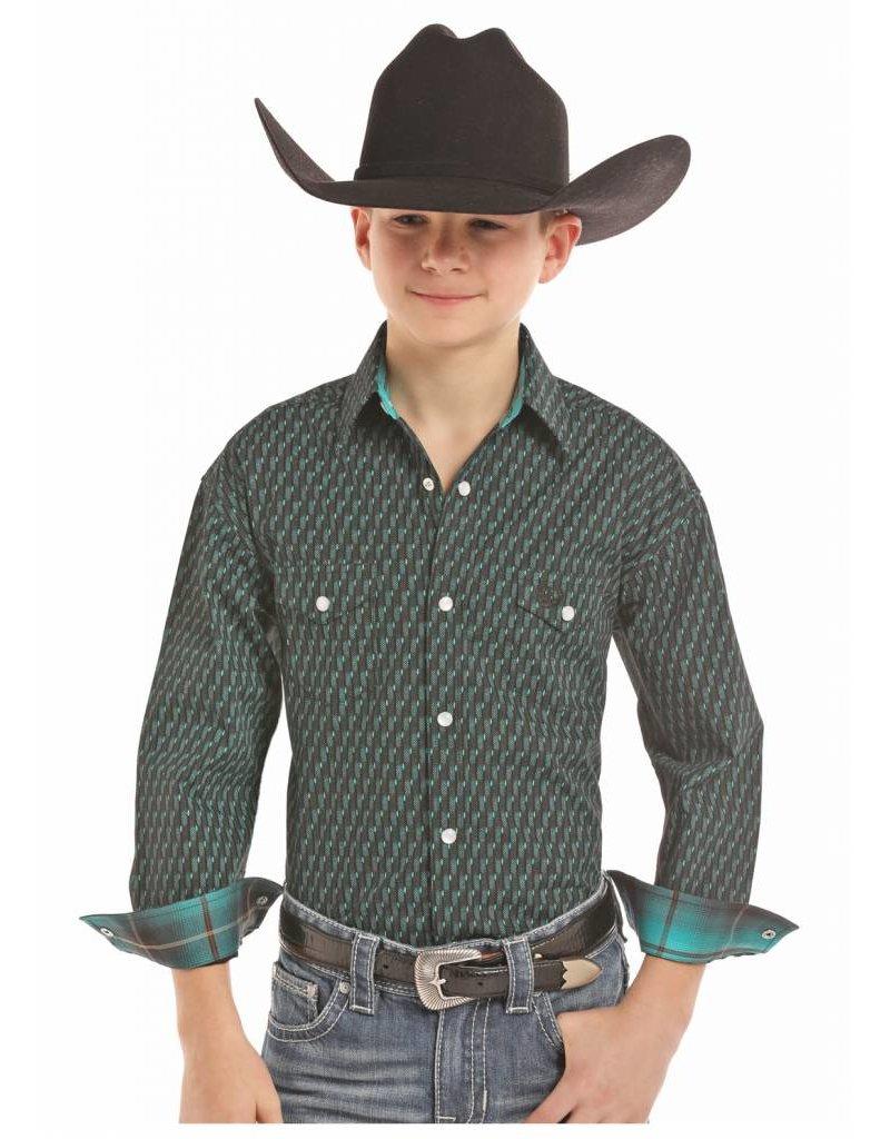 Panhandle Slim Panhandle Select Brushed Poplin Two Pocket Snap Long Sleeve