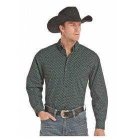 Panhandle Slim Panhandle Select Green Print Button Down Long Sleeve