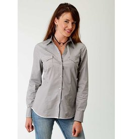 Roper West Made Collection Ladies Long Sleeve Grey Western Style Shirt