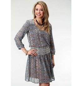 Roper Studio West Printed Poly Georgette Dress