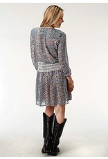 Roper Studio West Printed Poly Georgette Dress