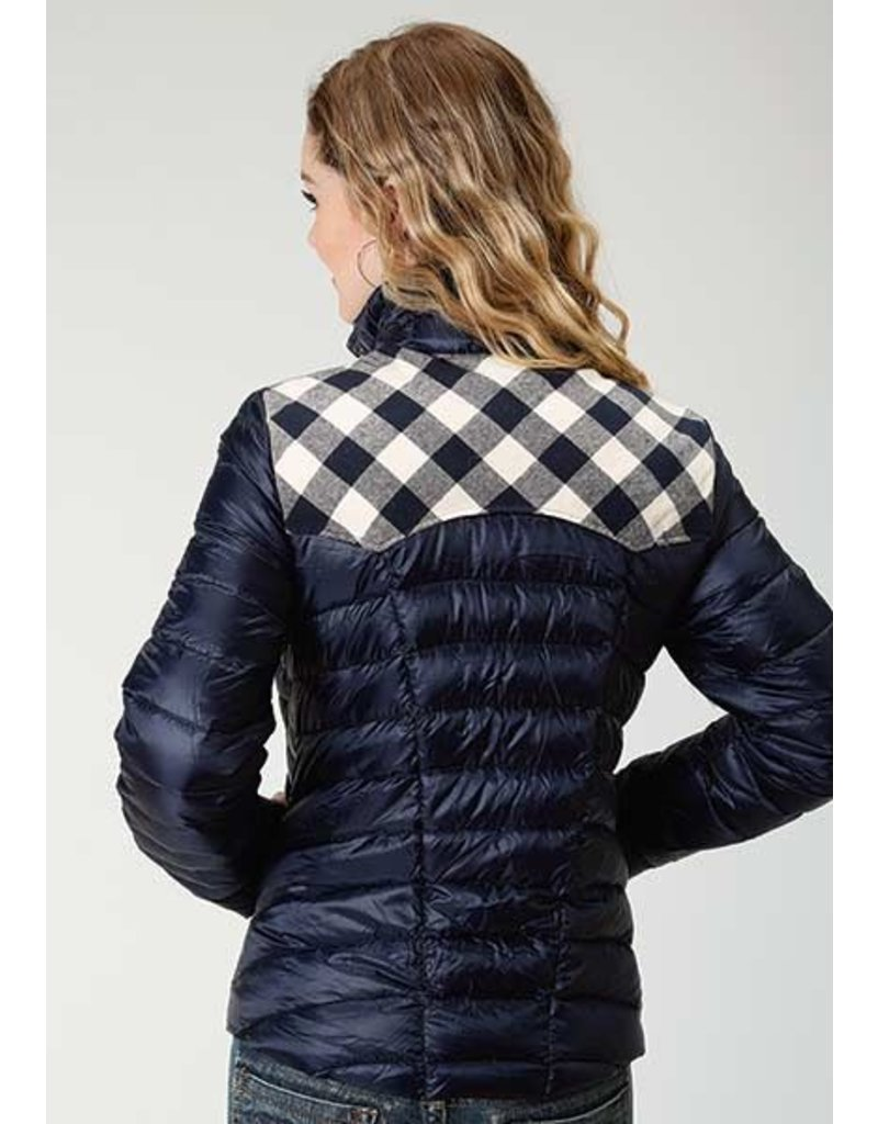Roper Roper Flannel Buffalo Check Quilted Down Coat