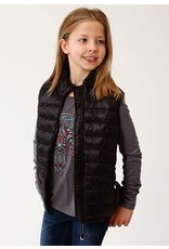 Roper Roper Girls' Black Parachute Nylon Down Vest