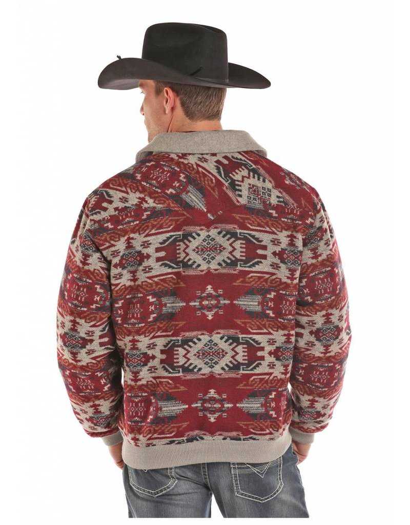 Powder River Outfitters Powder River Aztec Wool Jacquard Bomber Coat