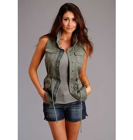 Stetson Olive Twill Cargo Vest