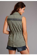 Stetson Olive Twill Cargo Vest