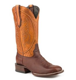 Stetson JB Stetson Brown Calf Full Leather Square Toe Boots