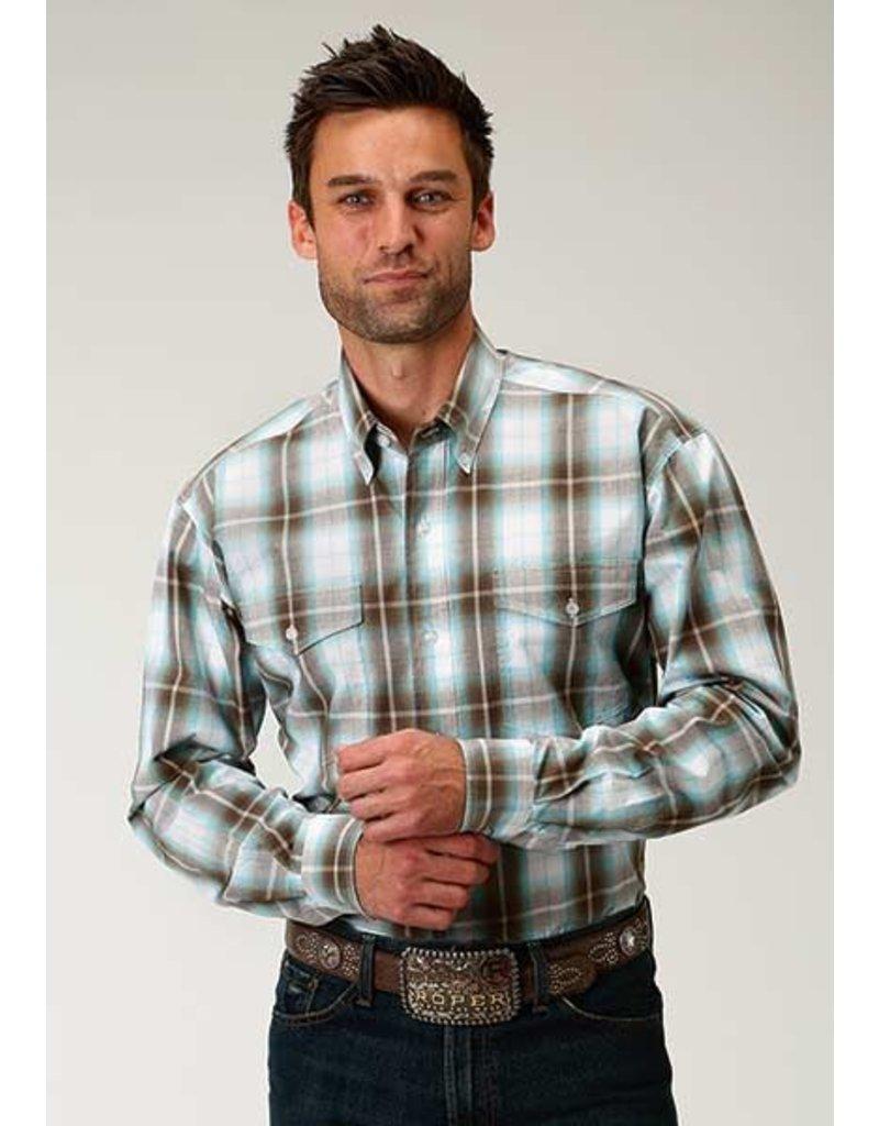 Roper Roper Men's Amarillo Sage Creek Plaid Long Sleeve Shirt