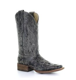 Corral Corral Black Timeless Python Cerberus Square Toe Boots