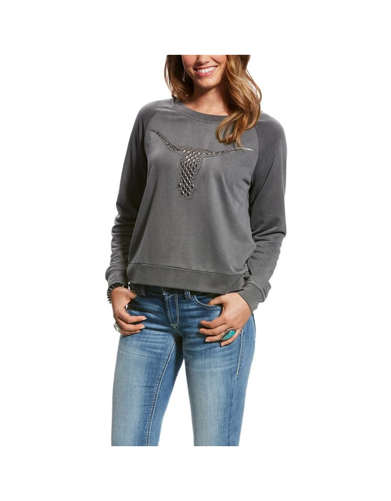 Ariat Ariat Women's Heather Grey Agnes Sweater Top