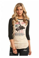 Rock & Roll Cowgirl Rodeo Poster Baseball Tee