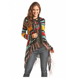 Rock & Roll Cowgirl Fringed Serape Cardigan