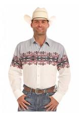 Panhandle Slim Aztec Border Long Sleeve Snap Shirt